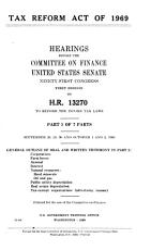Tax Reform Act of 1969 PDF