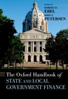 The Oxford Handbook of State and Local Government Finance PDF