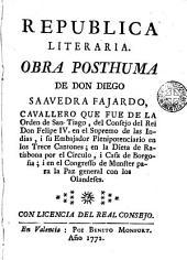República Literaira. Obra pósthumma