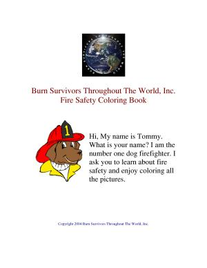BSTTW Children s Fire Safety Educational Coloring Book