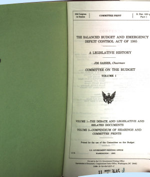 The Balanced Budget and Emergency Deficit Control Act of 1985