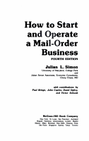 How to Start and Operate a Mail order Business PDF