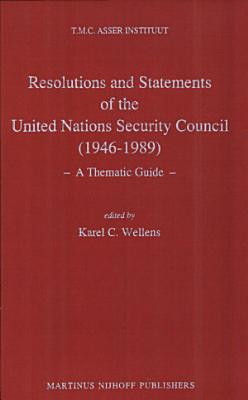 Resolutions and Statements of the United Nations Security Council PDF