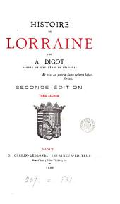 Histoire de Lorraine: Volume2