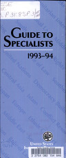 Guide to Specialists  1993 94 PDF