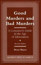 Good Murders And Bad Murders Book PDF