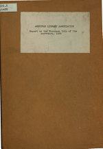 Report on the European Trip of the Secretary, 1929