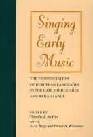 Singing Early Music PDF