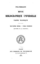 Polybiblion: Revue bibliographique universelle, Volume15
