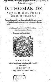 Sermones ... pii ... pro dominicis diebus