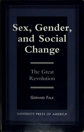 Sex  Gender  and Social Change PDF