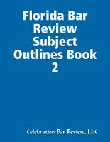 Florida Bar Review Subject Outlines PDF