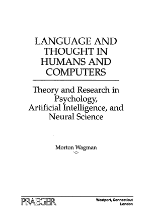 Language and Thought in Humans and Computers
