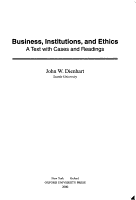 Business  Institutions  and Ethics PDF