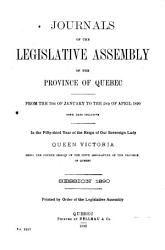 Journals of the Legislative Assembly of the Province of Quebec PDF