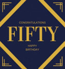 Happy 50th Birthday Guest Book  Hardcover