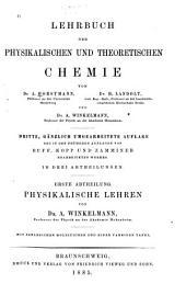 Lehrbuch der physikalischen und theoretischen Chemie