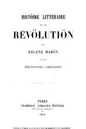 Histoire littéraire de la révolution
