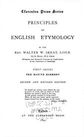 Principles of English Etymology: The native element. 1st series