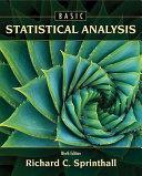 Basic Statistical Analysis PDF