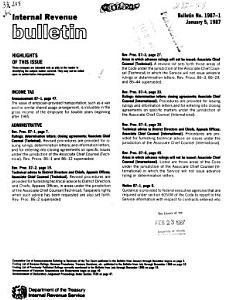 Internal Revenue Bulletin PDF