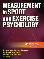 Measurement in Sport and Exercise Psychology PDF