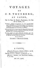 Voyages de C. P. Thunberg au Japon par le cap de Bonne-Espérance, les îles de la Sonde, etc: Volume3