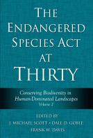 The Endangered Species Act at Thirty PDF