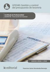 Gestión y control del presupuesto de tesorería. ADGN0108 - Financiación de empresas