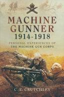Machine Gunner, 1914–18