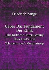 Ueber Das Fundament Der Ethik