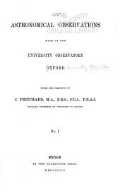 Astronomical Observations Made at the University Observatory Oxford: Volumes 1-4