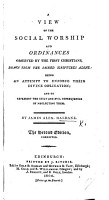 A View of the Social Worship and Ordinances Observed by the the First Christians PDF