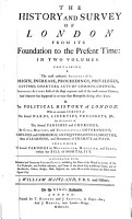 The History and Survey of London from Its Foundation to the Present Time  in Two Volumes PDF