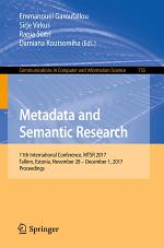 Metadata and Semantic Research
