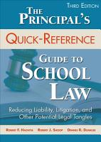 The Principal s Quick Reference Guide to School Law PDF