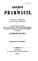 Archiv der Pharmazie und Berichte der Deutschen Pharmazeutischen Gesellschaft PDF