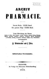 Archiv der Pharmazie und Berichte der Deutschen Pharmazeutischen Gesellschaft: Bände 73-74;Bände 123-124