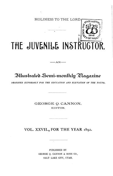 The Juvenile Instructor PDF
