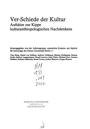 Ver Schiede der Kultur PDF