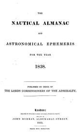 the nautical almanac and astronomical ephemeris for the year 1838.