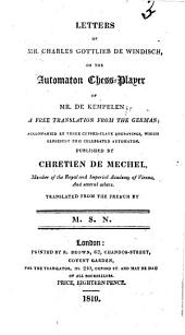 Letters on the Automaton Chess-player of Mr. de Kempelen