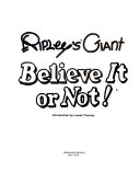 Ripley's Giant Believe it Or Not!