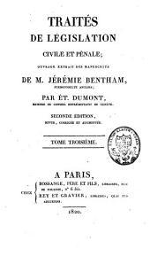 Traités de législation civile et pénale: Volume3
