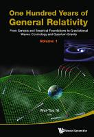 One Hundred Years Of General Relativity  From Genesis And Empirical Foundations To Gravitational Waves  Cosmology And Quantum Gravity   Volume 1 PDF