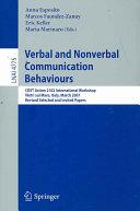 Verbal and Nonverbal Communication Behaviours PDF