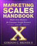 Marketing Scales Handbook