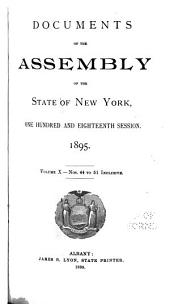 Documents of the Assembly of the State of New York: Volume 10
