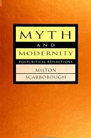 Myth and Modernity PDF