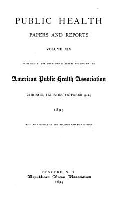 Public Health Papers and Reports PDF